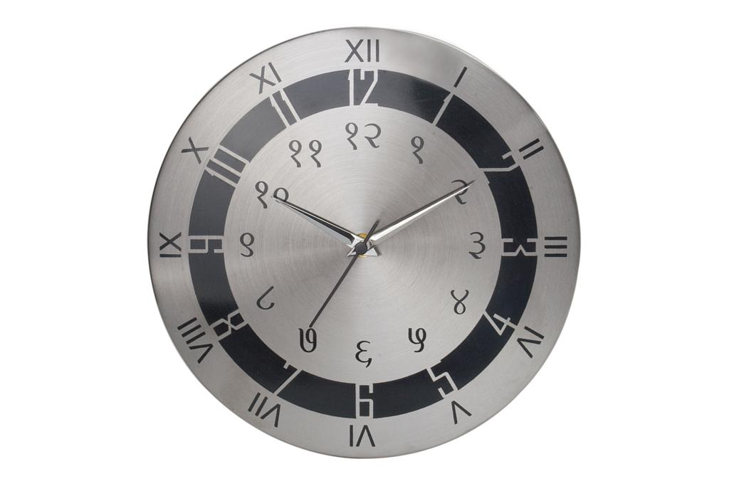 designer wall clock in steel stock clearance sale cost