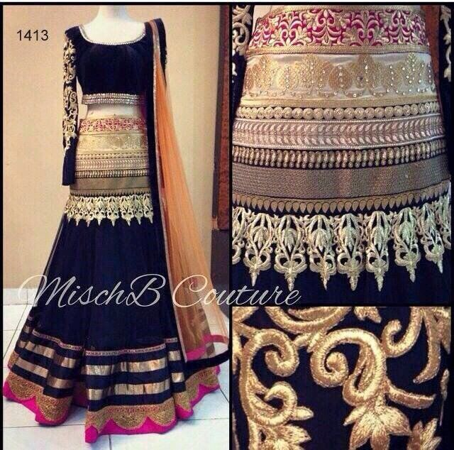 Wedding Lancha Images: Buy Black Embroidered Lehenga Online, Latest Black