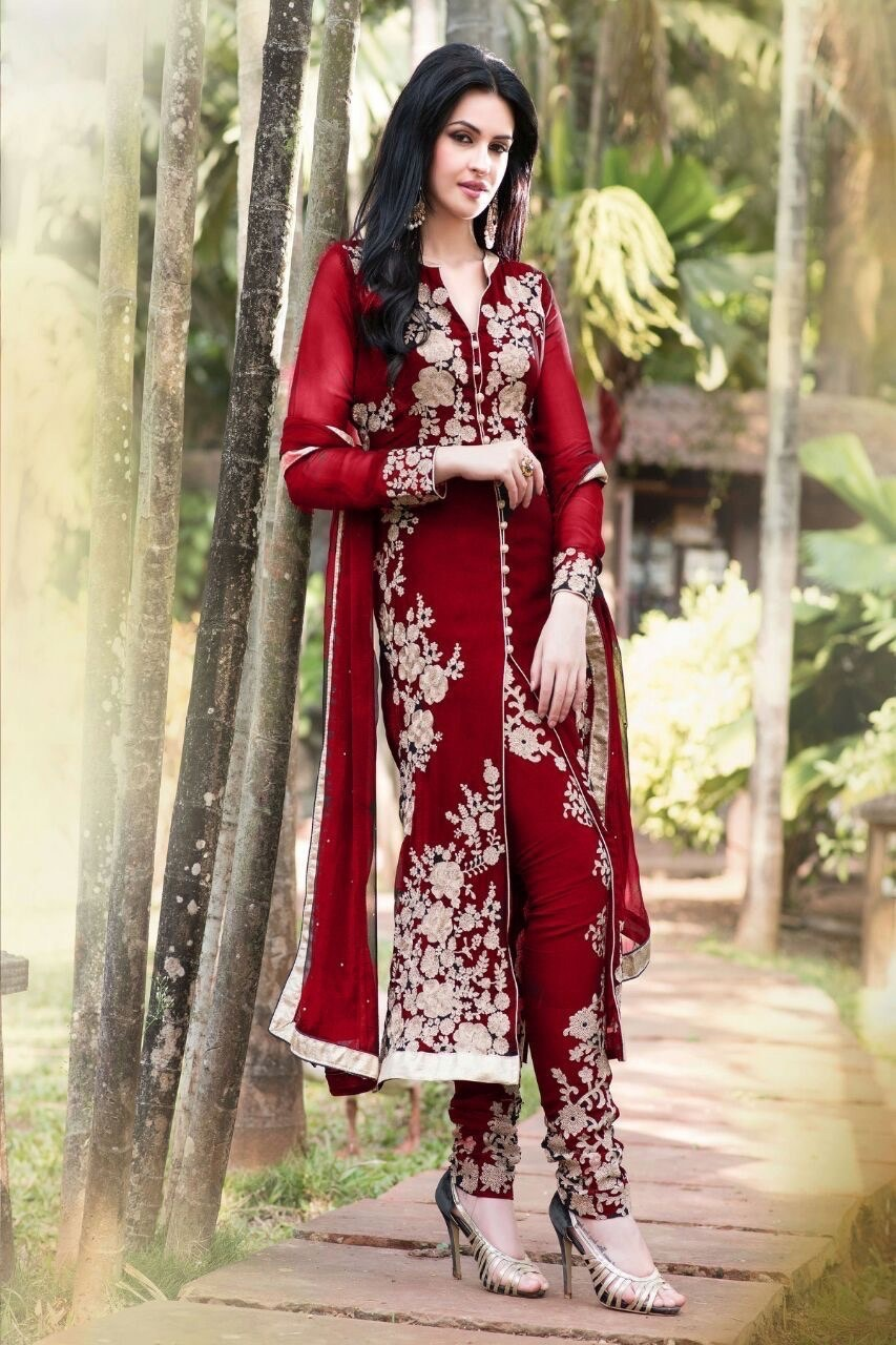 25 latest collection of long churidar dress models 2017 for Online designs