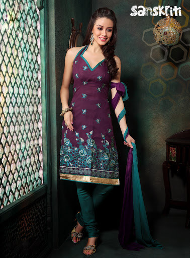 Cool Cotton Salwar Dress Material With Embroidery - Online Shopping For Dress Material By ...