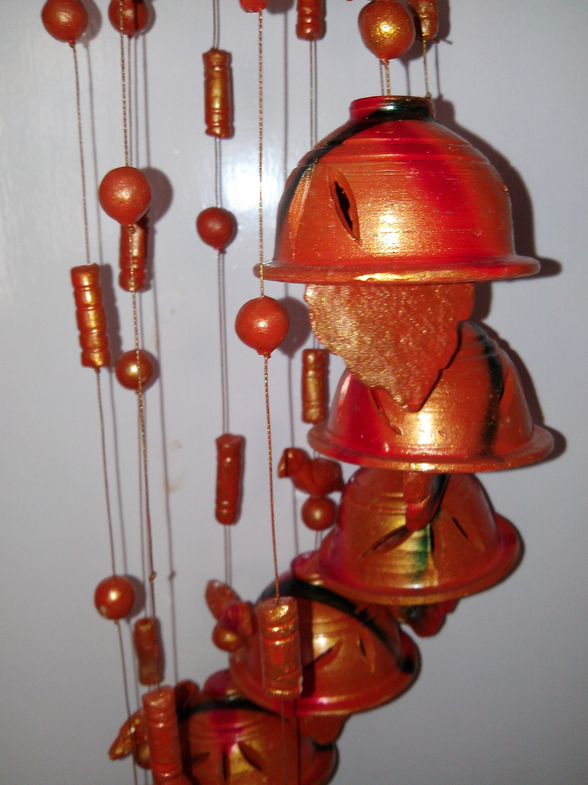 Terracotta wind chimes from birbhum bankura westbengal for Terracotta wind chimes