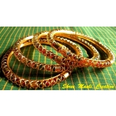 Traditional Golden Jaali Bangles Set Of 4