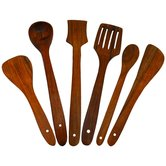 Wooden Serving And Cooking Spoon Kitchen Utensil Set Of 6