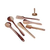 Wooden Skimmer Set Of 6 + 1 Masher