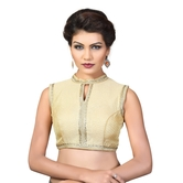 High Neck Back Open Padded Ready Made Saree Blouse