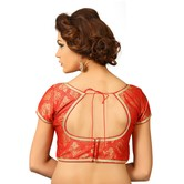 Ethnic Motifs In This Brocade Saree Blouse