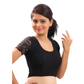 Black Lycra Stretchable Blouse & Crop Top