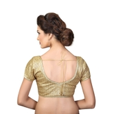 Gold Sequence Front Open Padded Blouse