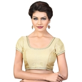 Kundan Bordered Brocade Ready Made Padded Blouse