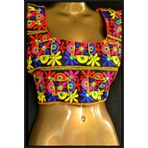 Surprise Gift Inside Kutch Embroidery Designer Multicolour Kutchi Mirror Hand Embroidered Padded Blouse