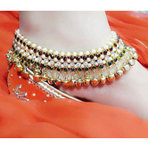 Craftsvilla Multicolor Gold Plated Anklet