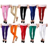 Stylobby Multicolour Leggings Pack Of 10