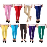Stylobby Multicolor Leggings Pack Of 9