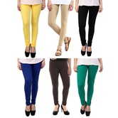 Stylobby Multicolor Leggings Pack Of 6