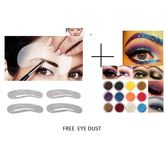 4 Design Grooming Shaping Assistant Template Eyebrow Stencil+ Eye Dust Free