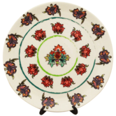 Kolorobia Blanc Floral Passion Painting Inspired Home DÉcor Wall Plate 7.5\