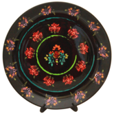 Kolorobia Noir Floral Passion Painting Inspired Home DÉcor Wall Plate 7.5\