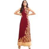 Fashion Storey Maroon Embroidered Salwar Suit