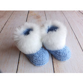 Baby Crochet Booties Baby Shoes Blue