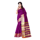 Purple Banarasi Silk...