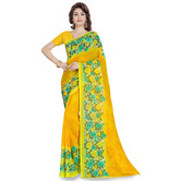 Triveni Lovely Yellow Colored Printed Faux Georgette Saree 1189d