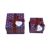 Triveni Hard Board Made Square Shaped Combo Of Two Gift Box