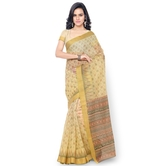 Triveni Lovely Beige Colored Printed Blended Cotton Saree