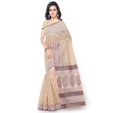 Triveni Charming Beige Colored Printed Blended Cotton Saree