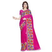 Triveni Charming Pink Colored Printed Faux Georgette Saree 1189c