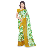 Triveni Appealing Green Colored Printed Faux Georgette Saree 1183d