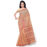 Triveni Pleasing Beige Colored Printed Blended Cotton Saree