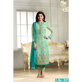 Prachi New Light Green Arraective Stright Salwat Suit - 837