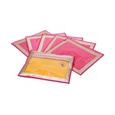 Kuber Industries Saree Cover In Heavy Quilted Satin Set Of 6 Pcs