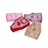 Kuber Industries Blouse Cover In Quilted Satin Fabric Set Of 4 Pcs