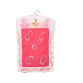 Kuber Industries Hanging Saree Cover In Non Woven Material Set Of 12 Pcs (pink)