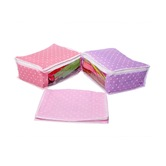 Kuber Industries Saree Cover In Polka Dots Cotton Material Set Of 3 Pcs