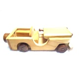 Desi Karigar Beautiful Wooden Classical Vintage Open Car Toy Showpiece