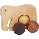 Desi Karigar Wooden Toy Elephant With Wheel
