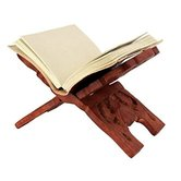 Desi Karigar Wooden Hand Carved Holy Book Stand,for Quran,bible,gita,ved ,guru Granth Sahib Size (13 Inch)