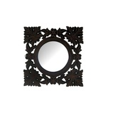 Desi Karigar Wooden Mdf Decorative Hand Carved Wall Mirror