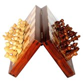 Desi Karigar Collectible Folding Wooden Chess Game Board Set 10 Inches With Magnetic Crafted Pieces