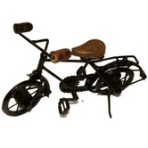 Desi Karigar Wooden & Iron Cycle Antique Home Decor Product ( Black, 10 X 7 Inch )