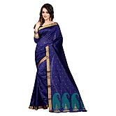 Fashions World New Designer Collection Blue And Cyan Colour Poly Cotton Saree