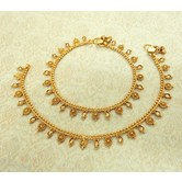 Lalso Amazing Copper White Antique Adjustable Payal Anklet 1 Pair (2 Pcs) - Lca06_wt