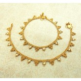 Lalso Amazing Copper Golden / Lct Antique Adjustable Payal Anklet 1 Pair (2 Pcs) - Lca09_lct