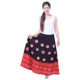Sunshine Ecommerce  Tye N Dye Print Cotton Multicolorlong Skirt - 826