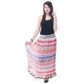 Sunshine Ecommerce  Womens Chiffon Printed Multicolor Long Skirt - 808