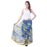 Sunshine Ecommerce  A-line Chiffon Multicolor Long Skirt - 810