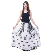 Sunshine Ecommerce  Elephant Print Women\'s White  Long Skirt - 812