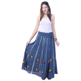 Sunshine Ecommerce  Women\'s Tye N Dye Multicolour Long Skirt - 815